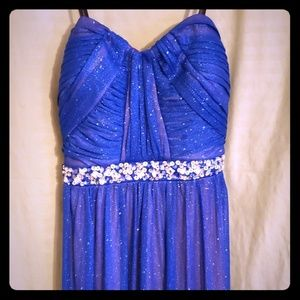Beautiful blue evening gown